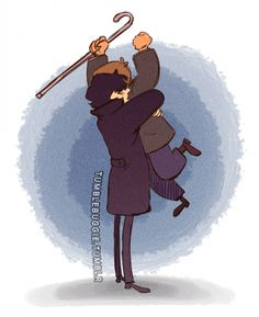 John can't decide if he wants to hug Sherlock or beat him up. Click through for gif.