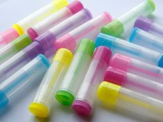 10 Colored translucent Empty LIP BALM Containers (Tubes Caps) Pick Color - These would be fun for making your own lip balms How To Make Chapstick, Secret Hiding Spots, Lip Balm Containers, Flavored Lip Gloss, Cool Skin Tone, Lip Balm Tubes, Lipstick Tube, Clear Nails, Tinted Lip Balm