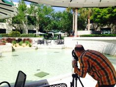 photo shoot at Franklin Templeton, one of our corporate facilities accounts