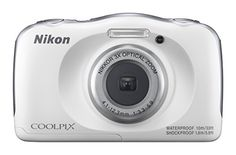 Capture family trips to the beach or out on the slopes with the tough white COOLPIX W100 Digital Camera from Nikon which features a rugged body rated to be waterproof to 33 dustproof freezproof to 1...