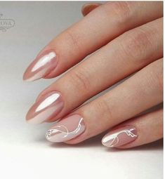 Rose chrome nails with matte white abstract accents. - Nail's - Rose chrome nails with matte white abstract accents. White Nail Designs, Beautiful Nail Designs, Nail Art Designs, Nails Design, Bride Nails, Wedding Nails, Gold Wedding, Spring Nail Art, Spring Nails