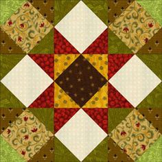 Kansas Star Quilt Block Pattern