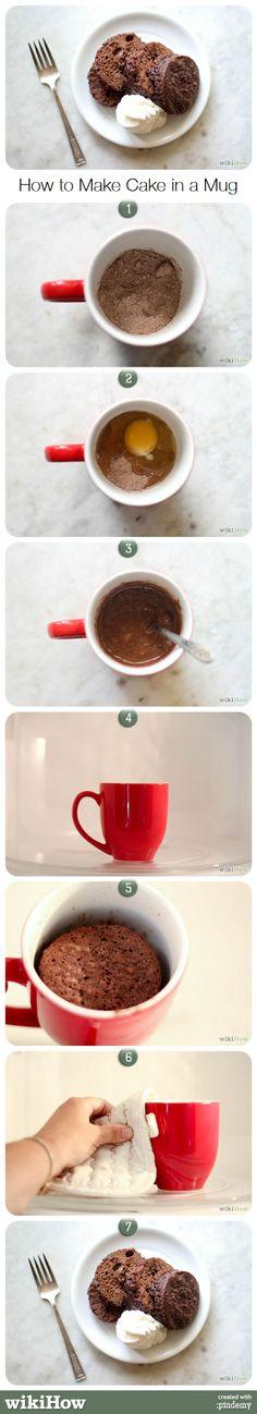 How to Make Cake in a Mug