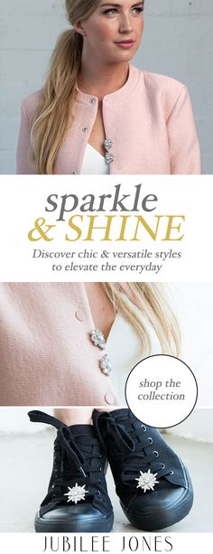 Jubilee Jones is all about versatility and our jewelled clips are a gorgeous way to elevate the everyday. Made with Czech and Swarovski crystals as well as Swarovski glass pearls, our pieces are designed to last and add sparkle to any look.