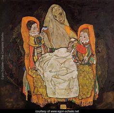 Mother With Two Children - Egon Schiele - www.egon-schiele.net