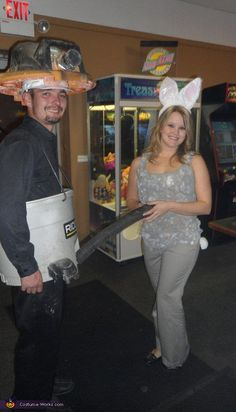 Shop Vac and Dust Bunny - Homemade costumes for couples
