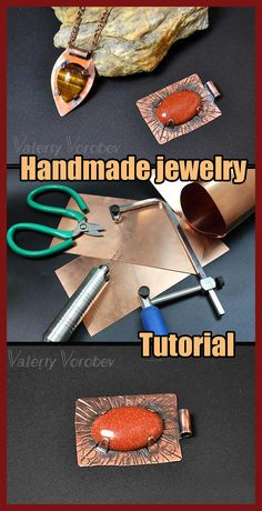 Wire Jewelry Making, Soldering Jewelry, Jewelry Tools, Soldering Iron, Stone Jewelry, Jewelry Ideas, Wire Wrapped Pendant, Wire Wrapped Jewelry, Wire Weaving Tutorial