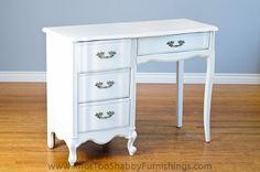 Pure White Annie Sloan Chalk Paint® French Desk          Just bought a vintage desk that looks like this one for Hannah. What color should it be painted??