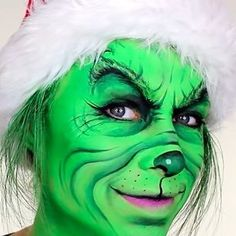 She's not the Grinch underneath that makeup! I bet she doesn't even want to steal Christmas.