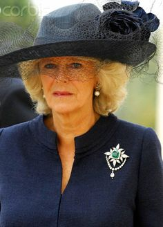 Duchess of Cornwall great emerald brooch