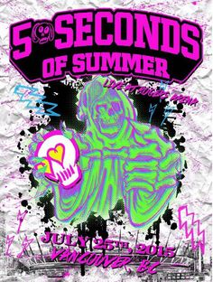VANCOUVER. 5 Seconds of Summer limited Rock out with your socks out tour posters (ROWYSO) 5SOS