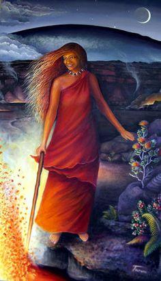 Aloha Arts by Jessica Taruni Paintings Hawaiian Mythology, Hawaiian Goddess, Hawaiian Legends, Hawaiian Art, Hula Dance, Dance Art, Sacred Feminine, Divine Feminine, Tutu