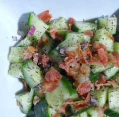 CBS (Cucumber Bacon Salad) - Simple Recipes