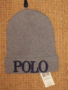 602cd9debf54b Polo ralph lauren beanie hat boys 8 - 20 years winter ski gray new