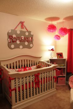 *Ryleigh Grace's Nursery :) Gray & Poppin' Pink