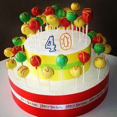 40th birthday cakepops