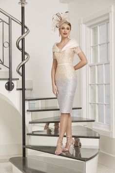 Ronald Joyce Mother of the Bride dresses for the modern woman. Now stocked at Dressini Mother Of The Bride Suits, Mother Of Bride Outfits, Bride Groom Dress, Bride Dresses, Ronald Joyce, London College Of Fashion, Full Skirt Dress, Silver Dress, Stunning Dresses