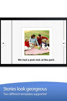 Little Story Maker - a great iOS app for adding text and audio to pictures to tell a story.