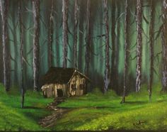 Cabin in the Woods - Andrews Handmade Art - Paintings & Prints Landscapes & Nature Forests Other Forests - ArtPal Cabins In The Woods, Forests, Art Paintings, Handmade Art, Landscapes, House Styles, Nature, Prints, Decor