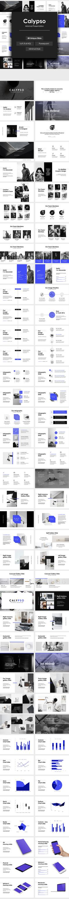 Calypso Minimal Powerpoint Template by Domi Design on @creativemarket