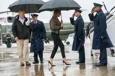 The first lady set off for Texas, but her shoes got all the attention. Here's why.