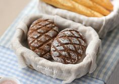 Miniature Dark Bread - Germany in your Bakery Shop - 1/12 Dollhouse Scale on Etsy, $7.06