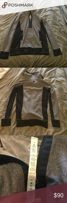 Lululemon Quarter Sleeve Fleece Been worn a few times. In good condition. Zips up over the neck and long enough to go pass the hips. lululemon athletica Tops