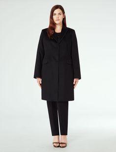 Cappotto blazer attillato, nero - OLEUM Marina Rinaldi