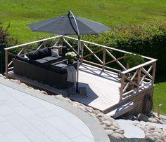 Ny terrasse bygget i sibirsk lerk