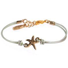 Ettika Starfish Leather Bracelet $36