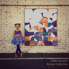 Kaffe Fasset has a new ebook featuring how to use his Artisan fabric to sew up 14 fabulous projects including quilts, garments, and accessories. Quilting Projects, Quilting Designs, Sewing Projects, Quilting Ideas, Craft Projects, Modern Quilt Blocks, Flying Geese Quilt, Textiles, Quilt Patterns Free