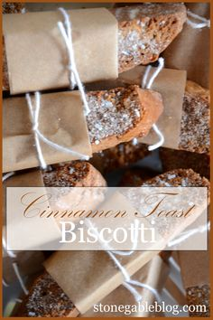 OH YUMMY!Need a little something sweet with your coffee or tea? Give CINNAMON TOAST BISCOTTI a try. They are delicious and cinnamony….and a grown up version of the cinnamon toast my mom used to make! CINNAMON TOAST BISCOTTI6 TBS butter, room temperature2/3 cup brown sugar, packed2 large eggs (one for egg wash)1 1/2 tsp vanilla more »