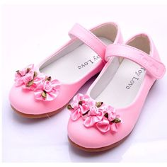 Cute Pink Mary Jane Flower Pageant Party Girl Girls Kids Dress Shoes  SKU-133052