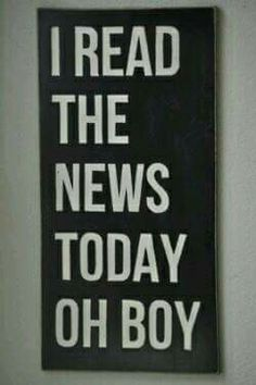 I read the news today oh boy.