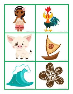 Moana Memory Game Free Printable for Kids Moana Themed Party, Moana Party, Card Games For Kids, Memory Games For Kids, Moana Boat, Bolo Moana, Moana Crafts, Minnie Mouse Birthday Decorations, Baby Record Book