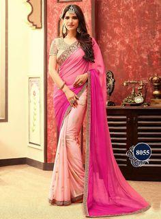 4e7cdc965f79dc Saree Bollywood Sari Indian Designer Wear Pakistani Party Wedding Ethnic  Saree Baby Pink Colour, Online