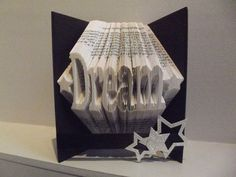 "Book Folding Pattern for ""Dream"" (with stars)"