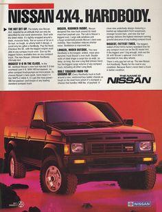 The Nissan Hardbody – the tough, taut truck of 1 - Today Pin Nissan 4x4, Nissan Trucks, New Nissan, Toyota Trucks, Mini Trucks, Pickup Trucks, Nissan Hardbody 4x4, Bicicletas Raleigh, Nissan Terrano