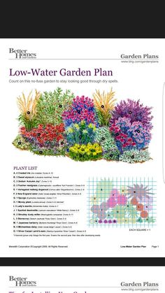 Low water garden – Garden Design ideas - How to Make Gardening Plantas Indoor, Flower Garden Plans, Flowers Garden, Garden Landscape Design, Landscape Pics, Landscape Edging, Garden Cottage, Lawn And Garden, Garden Water