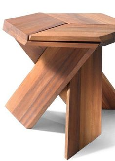Used Woodworking Machinery Wooden Stool Designs, Chair Design Wooden, Wooden Stools, Wood Design, Paper Furniture, Modern Furniture, Furniture Design, Round Wooden Coffee Table, Woodworking Furniture Plans