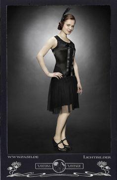 Knielange Kleider - VECONA VINTAGE Charlestonkleid 20er Jahre, Gatsby - ein Designerstück von Vecona-Vintage bei DaWanda