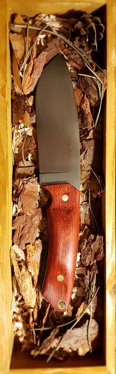 Outdoor Bushcraft knife Handmade Carbon steel Padouk