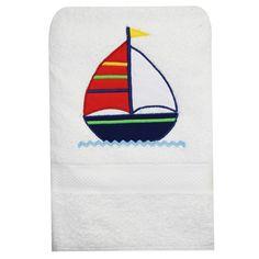 Sailboat Bath Towels