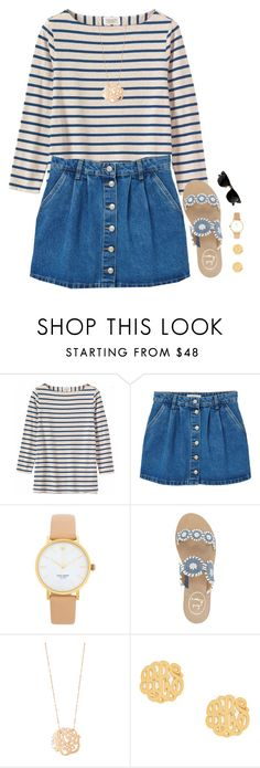 """""""im in tennessee right now!"""" by preppy-ginger-girl ❤ liked on Polyvore featuring Toast, MANGO, Ray-Ban, Kate Spade, Jack Rogers, Ginette NY and BaubleBar"""