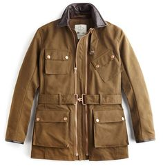 The iconic Twin Track biker-style jacket with dual sizing technology in Olive Cotton Canvas