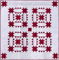 Canine Stars.  Since this is a two color quilt, substitute black (or any color) in place of red.