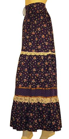 peasant skirts and dresses, especially Laura Ashley name-brand. It was all the rage to have a Laura Ashley peasant dress for Prom in the 1979-1985 era. . .
