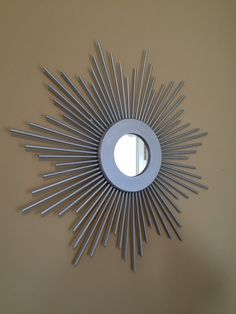 Sunburst mirror in silver latiendadecoideas@gmail.com