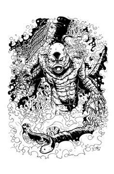 THE CREATURE by mister-bones.deviantart.com on @deviantART