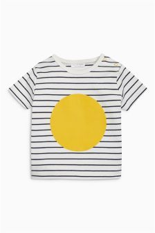 Stripe/Circle T-Shirt (0 mnd-2 jr)